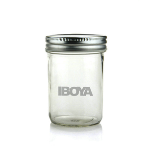 8oz Tapered Mason Jars/ Jam Jars/ Canning Jars/Honey Jars with Silver/Gold Cap