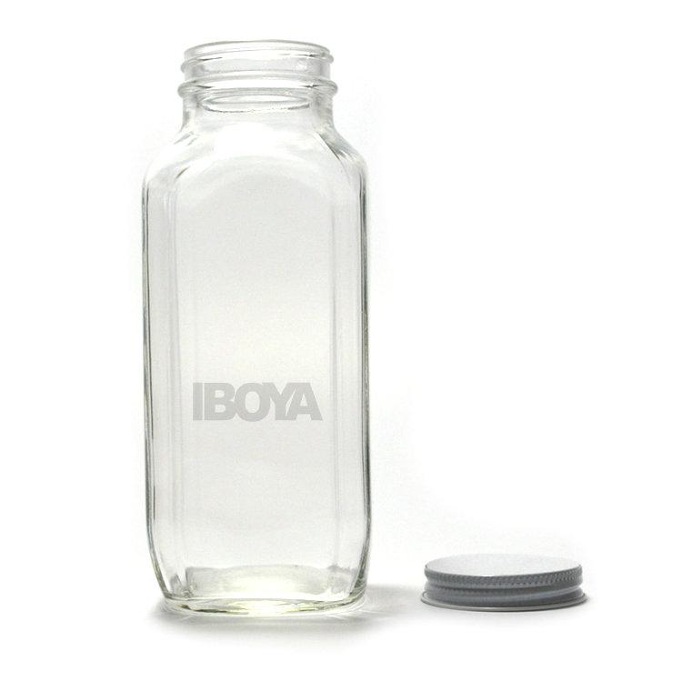 b1ddfc5dfe8e 12oz 16oz French Square Glass Bottles Juice Bottles - Buy 12oz 16oz ...